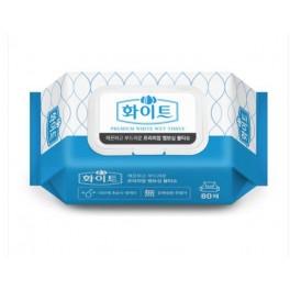 화이트물티슈 /80매, 캡형 (25개/1박스)